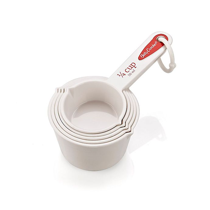 Alternate image 1 for Betty Crocker 5-Piece Measuring Cup Set in White