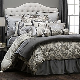 HiEnd Accents Kerrington Duvet Cover in Grey