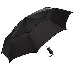Shedrain® Windjammer Vented Auto Open Compact Umbrella in Black