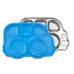 Innobaby Din Din SMART™ Stainless Bus Platter with Sectional Lid in Blue