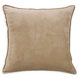 HiEnd Accents Fairfield Velvet European Pillow Sham in Sand