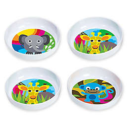 French Bull® Jungle Kids' 4-Piece Bowl Set