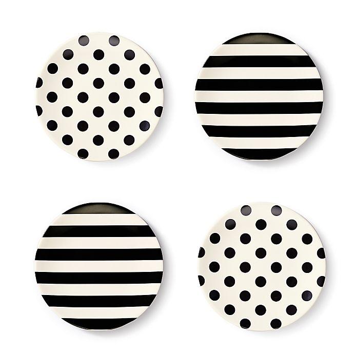 Alternate image 1 for kate spade new york Raise a Glass Melamine Tidbit Plates (Set of 4)