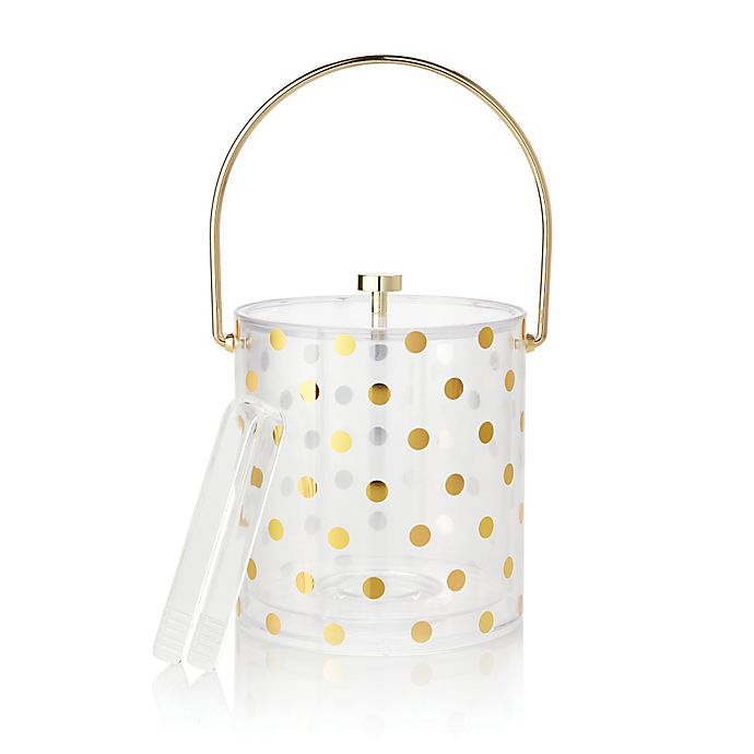 Alternate image 1 for kate spade new york Raise a Glass Acrylic Ice Bucket and Tongs