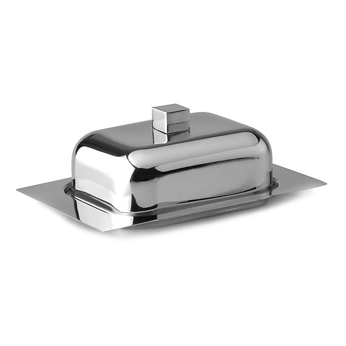 Alternate image 1 for BergHOFF® Cubo Stainless Steel Butter Dish