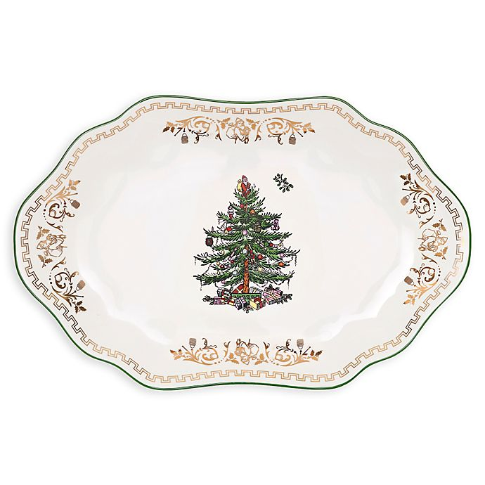 Spode Christmas Tree China Sale: Spode® Christmas Tree Gold 13-Inch Oval Platter
