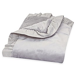 Trend Lab® 30-Inch x 40-Inch Velour Receiving Blanket in Grey