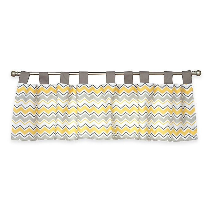 Alternate image 1 for Trend Lab® Buttercup Zigzag Window Valance