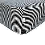 Burt's Bees Baby® Bee Essentials Stripe Organic Cotton Fitted Crib Sheet in Blueberry