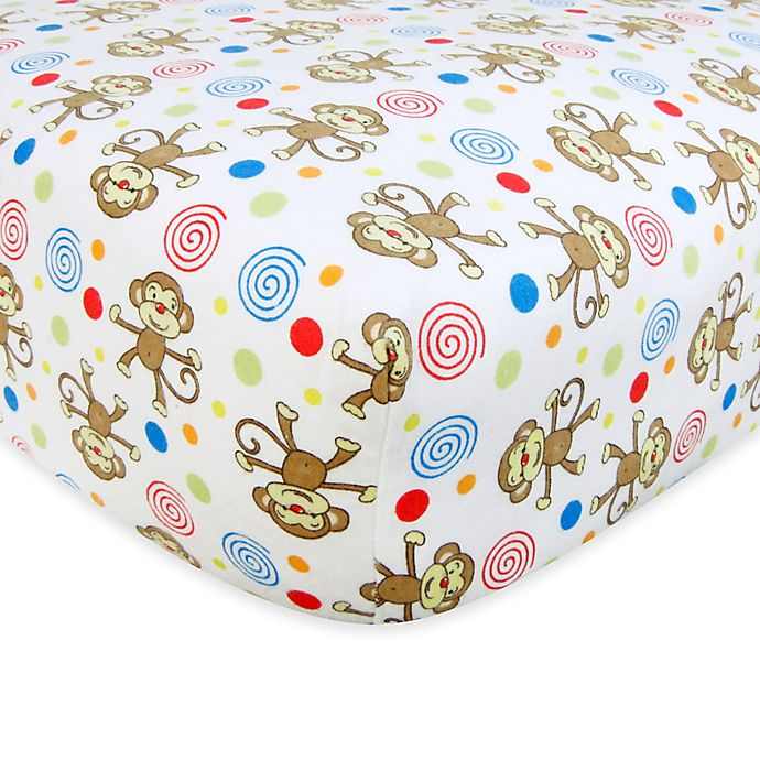 Alternate image 1 for Trend Lab® Flannel Fitted Crib Sheet Collection