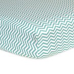 Trend Lab® Chevron Flannel Fitted Crib Sheet in Mint