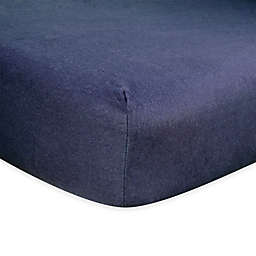 Trend Lab® Flannel Fitted Crib Sheet in Navy