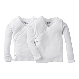 Gerber® Preemie 2-Pack Long Sleeve Side Snap Shirt with Mittens