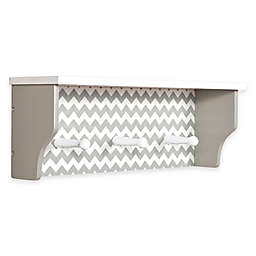 Trend Lab® Ombre Chevron 3-Peg Shelf in Dove Grey