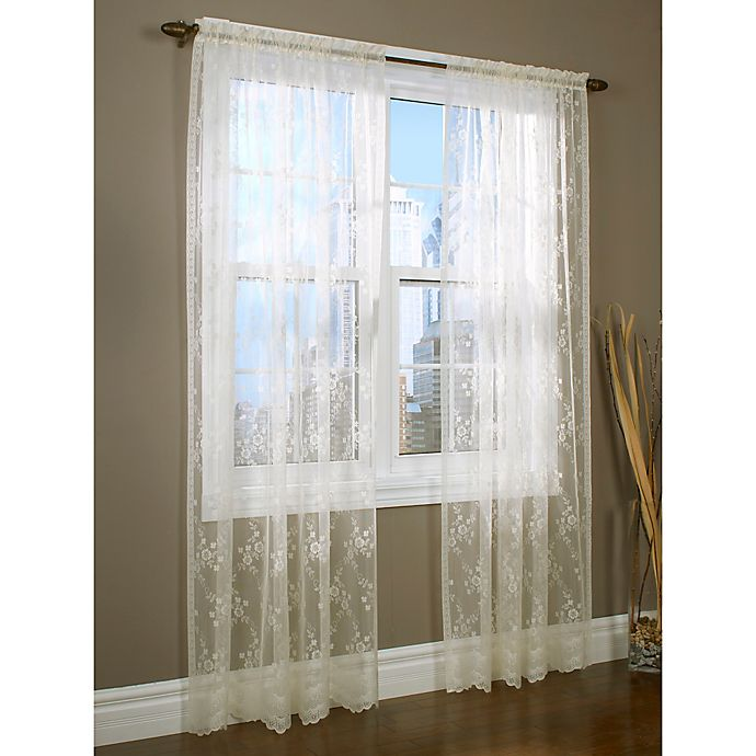Alternate image 1 for Mona Lisa 84-Inch Rod Pocket Window Curtain Panel in Shell