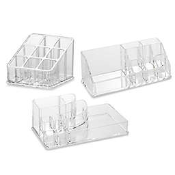 Home Basics Cosmetic Organizers in Clear