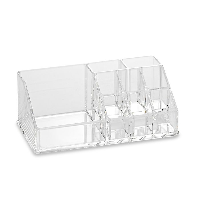 Alternate image 1 for Home Basics Medium Cosmetic Organizer in Clear