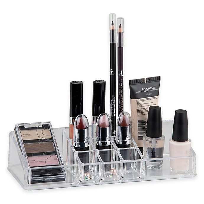 Alternate image 1 for Home Basics® Medium Makeup Organizer in Clear