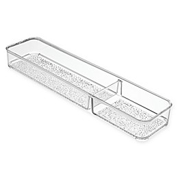 InterDesign® Rain 2-Compartment Divided Tray in Clear
