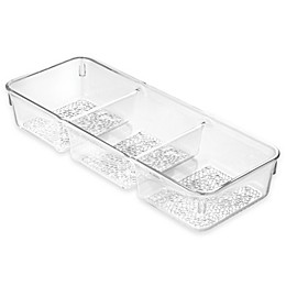 InterDesign® Rain 3-Section Tray in Clear