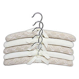 E-Z Do Trellis Print Padded Hangers (Set of 5)