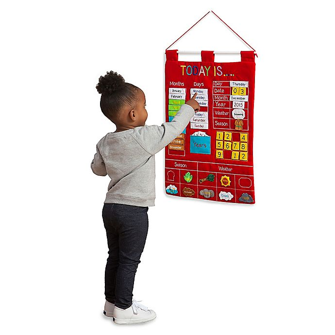 Alternate image 1 for Alma's Designs Today Is Red Learning Wall Chart