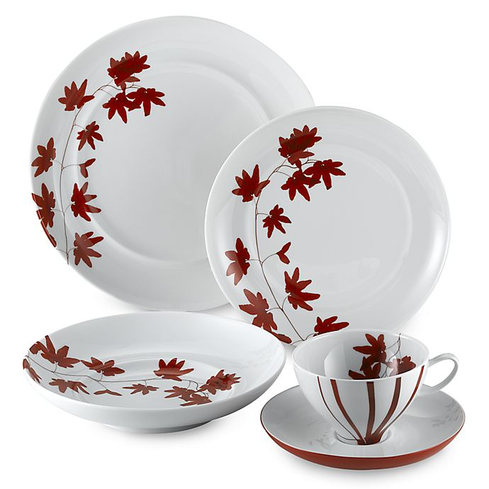 Alternate image 1 for Mikasa® Pure Red 5-Piece Place Setting