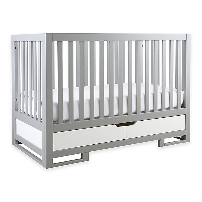 Alternate image 1 for Karla Dubois® OSLO 3-in-1 Convertible Crib in Moon Grey/Pure White