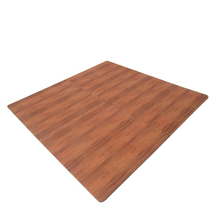 Alternate image 1 for Verdes Jumbo Wood Grain Foam Play Mat