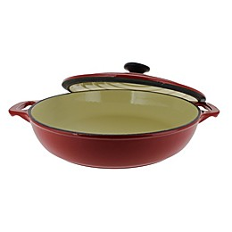 French Home Chasseur 1.8 qt. Cast Iron Braiser with Lid