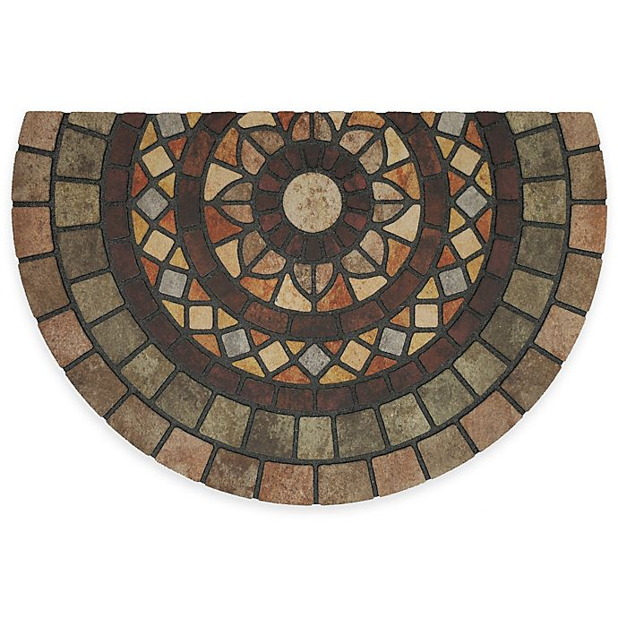 Alternate image 1 for Mohawk  Home® Mosaic Mythos 23-inch x 35-inch Recycled Rubber Slice Door Mat