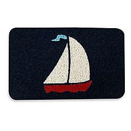 Kikkerland® Design 17.7-inch x 29.5-inch Sailboat Door Mat