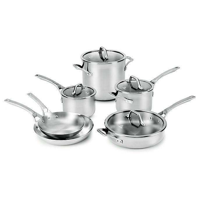 Alternate image 1 for Calphalon® Signature™ Stainless Steel 10-Piece Cookware Set