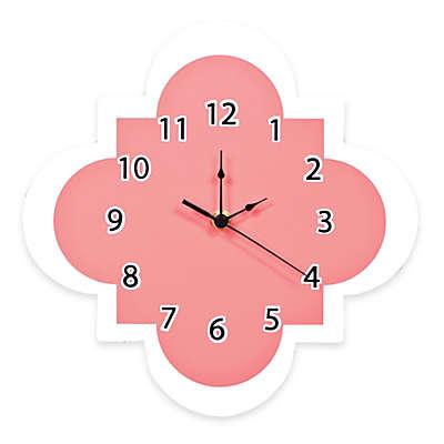 Trend Lab® Cocoa Coral Quatrefoil Wall Clock