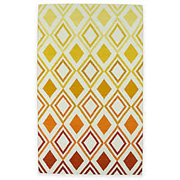 Kaleen Glam Ombre Diamonds 3-Foot 6-Inch x 5-Foot 6-Inch Area Rug in Orange