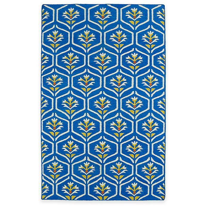 Alternate image 1 for Kaleen Glam Floral 2-Foot x 3-Foot Accent Rug in Blue