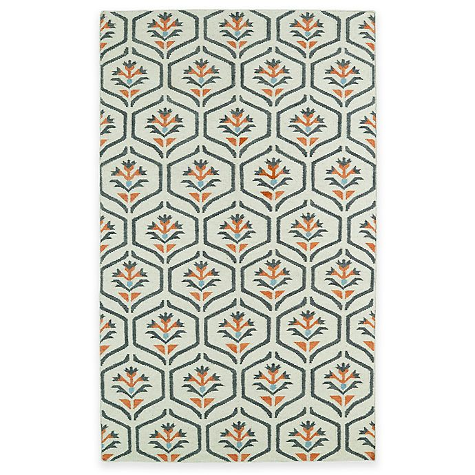 Alternate image 1 for Kaleen Glam Floral 8-Foot x 10-Foot Area Rug in Coral