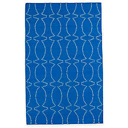 Kaleen Glam Pin Dot 8-Foot x 10-Foot Area Rug in Blue