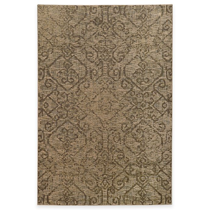 Alternate image 1 for Oriental Weavers Heritage Tribal Geometric 1-Foot 10-Inch x 3-Foot 3-Inch Rug in Beige