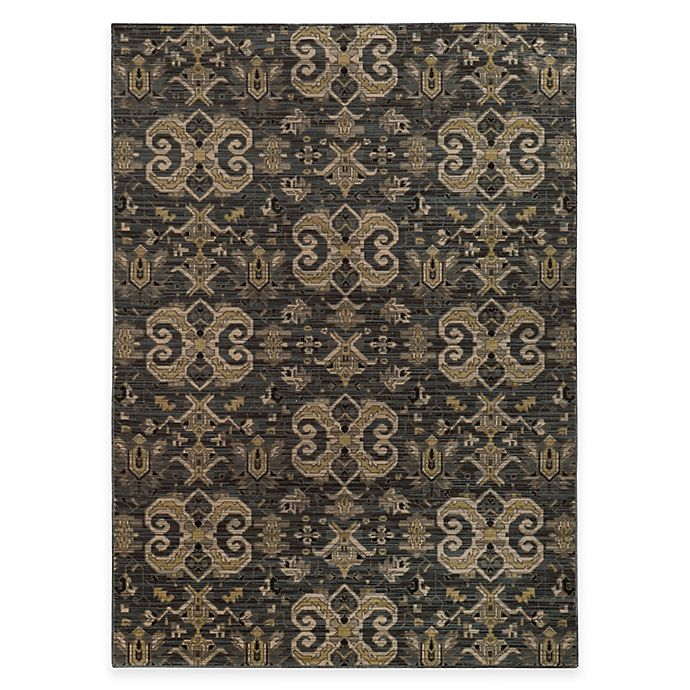 Alternate image 1 for Oriental Weavers Heritage Scroll 2-Foot 7-Inch x 9-Foot 4-Inch Runner in Blue/Gold