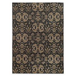 Oriental Weavers Heritage Scroll Rug in Blue/Gold
