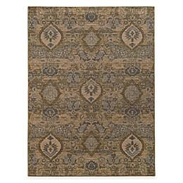 Oriental Weavers Heritage Floral Ikat Rug in Ivory/Blue