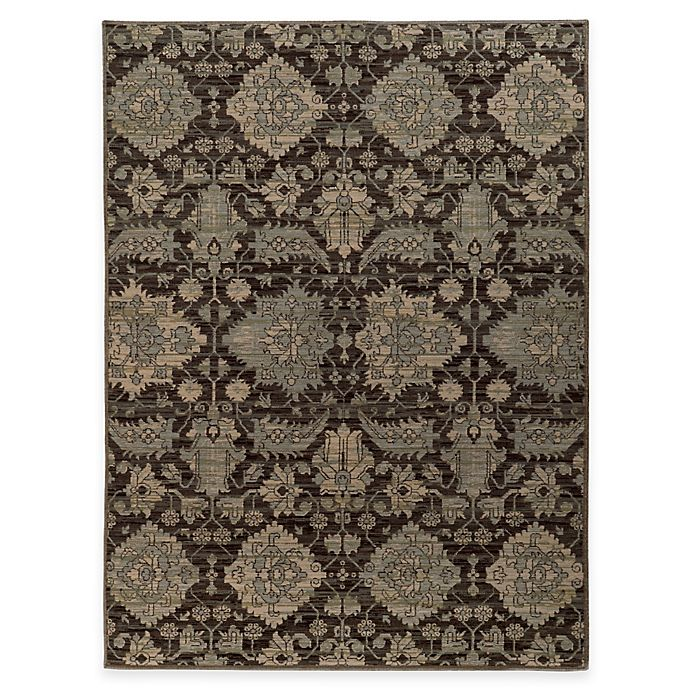 Alternate image 1 for Oriental Weavers Heritage 9-Foot 10-Inch x 12-Foot 10-Inch Rug in Charcoal