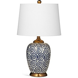 Bassett Mirror Company Lawton Table Lamp in Navy/White