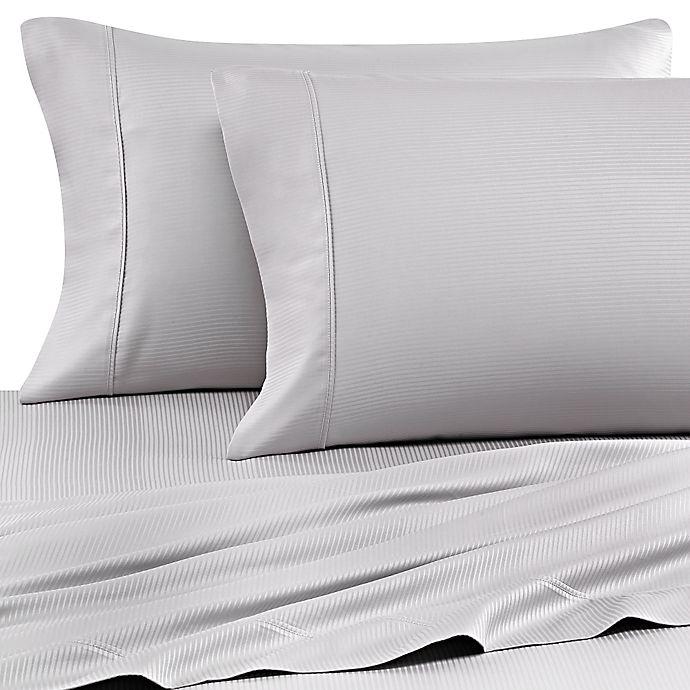 Alternate image 1 for Eucalyptus Origins™ Tencel® Lyocell Standard Pillowcases in Platinum (Set of 2)