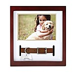 Pearhead 3.5-Inch x 5-Inch Decorative Pet Collar Frame in Espresso