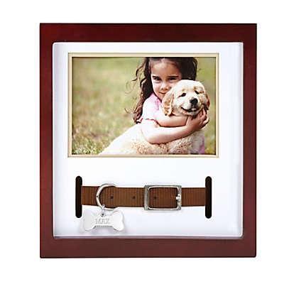 Pearhead 3.5-Inch x 5-Inch Decorative Pet Collar Frame in Espresso