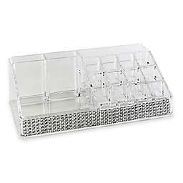 Laura Ashley® Imitation Pave Diamond 16-Section Cosmetic and Jewelry Holder