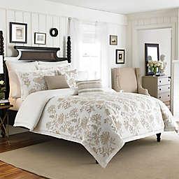 Croscill® Devon Reversible Duvet Cover in Natural