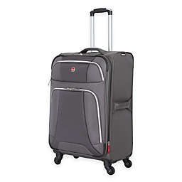 Wenger Monte Leone 24-Inch Spinner Checked Luggage in Grey